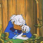 """Скрудж МакДак считает деньги. К материалу """"Почему компании скрывают зарплатные вилки"""""""